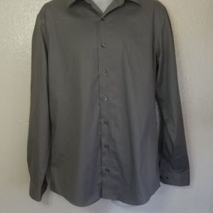 Kenneth Cole slim fit gray shirt